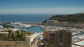 Залив и гавань на Монако, Cote d'Azur Франции акции видеоматериалы