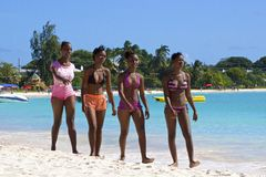 Залив Карлайла, Барбадос, карибские Стоковое Изображение
