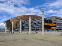 Залив Кардиффа, Уэльс - 20-ое мая 2017: Центр тысячелетия для искусств Стоковое Изображение