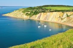 Залив квасцов, остров белизны стоковые изображения rf