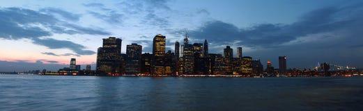 Залив Манхаттана увиденный от парка Бруклинского моста, Нью-Йорка, США Стоковое Изображение RF