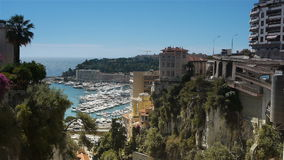 Залив Монако, Cote d'Azur Франции сток-видео