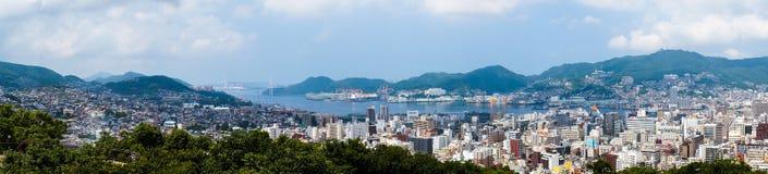 Залив Нагасаки в Нагасаки, Японии Стоковая Фотография