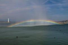 залив над радугой Стоковые Изображения