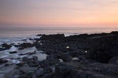 Залив остатков, Porthcawl, южный уэльс Стоковое фото RF