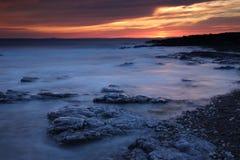 Залив остатков, Porthcawl, южный уэльс Стоковые Фотографии RF