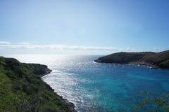 Залив острова в Тихом океане Стоковые Фотографии RF