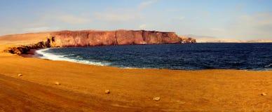 Залив панорамы в Paracas Стоковая Фотография