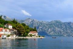 Залив побережья Kotor в Черногории Стоковые Изображения