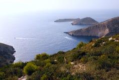 Залив Порту Verde - остров Закинфа Стоковые Фото