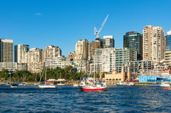 Залив пункта и лаванды Milsons с яхтами Австралия Сидней стоковое изображение rf