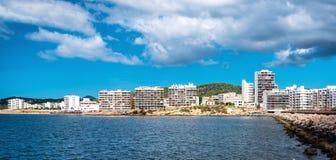 Залив Сан Антонио de Portmany, Ibiza стоковое фото rf