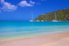 Залив сада тросточки в Tortola, карибском стоковое изображение rf