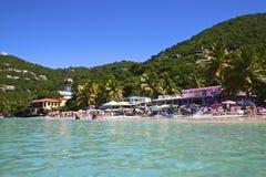Залив сада тросточки, Tortola, BVI стоковые изображения