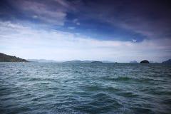 Залив тиши ландшафта моря на краю мира Стоковая Фотография RF
