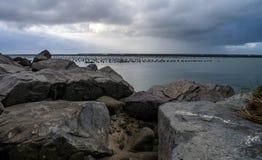 залив утесистый Стоковая Фотография