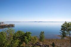 Залив француза на гавани Мейне США бара стоковое изображение