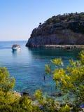 Залив Энтони Куинн в Греции Стоковые Фотографии RF