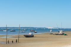 Залив Arcachon, Франция, взгляд над дюной Pyla Стоковые Изображения RF