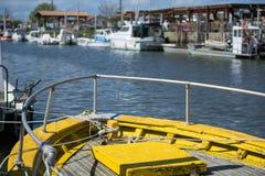 Залив Arcachon, Франция, деталь рыбацкой лодки Стоковые Изображения