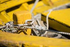 Залив Arcachon, Франция, деталь рыбацкой лодки Стоковые Изображения RF