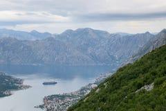 Залив Bocka, Kotor - Черногория Стоковая Фотография RF