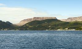Залив Bonne, национальный парк Gros Morne, Ньюфаундленд и Лабрадор стоковые изображения rf