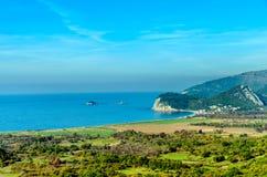 Залив Buljarica, Budva, Черногория стоковые изображения