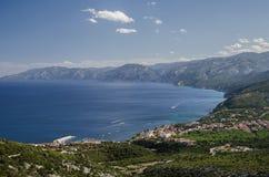 Залив Cala Gonone, Сардиния Стоковые Изображения