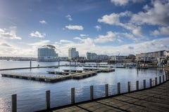 Залив Cardiff, вэльс, Великобритания Стоковое Изображение RF