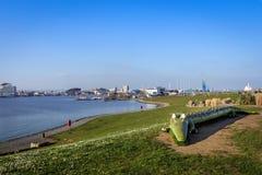 Залив Cardiff, вэльс, Великобритания Стоковая Фотография