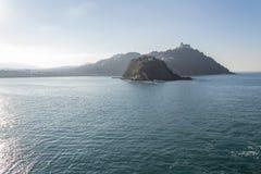 Залив Concha Ла в San Sebastian (Испания) Стоковые Фотографии RF