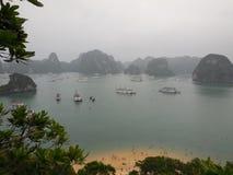 Залив Halong - Вьетнам Стоковое Изображение RF