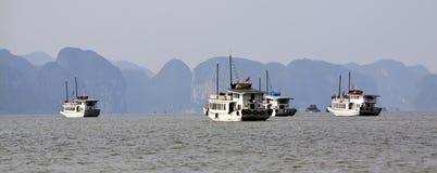 Залив Halong в Quangninh, Вьетнаме стоковое изображение rf