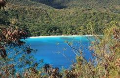 Залив Jumbie в St. John Стоковое фото RF