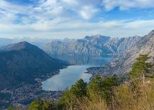 Залив Kotor, Черногории Стоковая Фотография RF