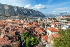 Залив Kotor, Черногории. Kotorska Boka. Стоковое Фото