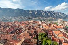 Залив Kotor, Черногории. Kotorska Boka. Стоковое Изображение RF