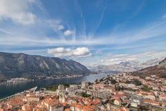 Залив Kotor, Черногории. Kotorska Boka. Стоковая Фотография RF