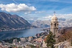 Залив Kotor, Черногории. Kotorska Boka. Стоковые Фото