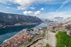 Залив Kotor, Черногории. Kotorska Boka. Стоковая Фотография