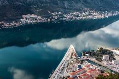 Залив Kotor, Черногории. Kotorska Boka. Стоковые Изображения RF