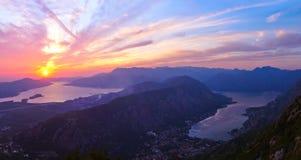 Залив Kotor - Черногория Стоковая Фотография RF