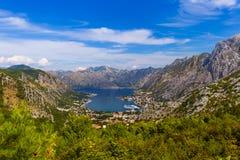 Залив Kotor - Черногория Стоковое фото RF