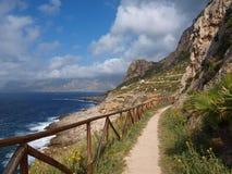 Залив Macari, Сицилии, Италии Стоковые Фотографии RF