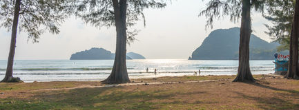 Залив Manow, природа Таиланд Стоковое Изображение RF