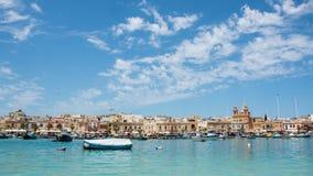 Залив Marsaxlokk в Мальте Стоковое Фото