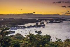 Залив Matsushima, Японии Стоковое фото RF