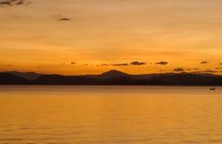 Залив Nicoya после захода солнца стоковая фотография rf