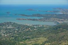 Залив Noumea Новая Каледония Boulary вида с воздуха Стоковые Изображения RF